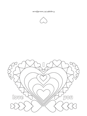 Valentine Coloring Page for Adults